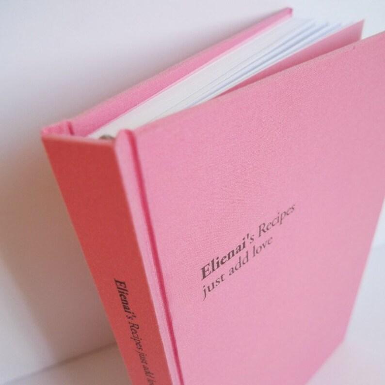 personalized recipe book A5 image 0