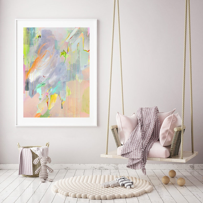 Modern Abstract S,M,L Abstract Painting Butterfly Print Colorful Art Contemporary Art   Fine Art Print  Butterfly Painting Arise