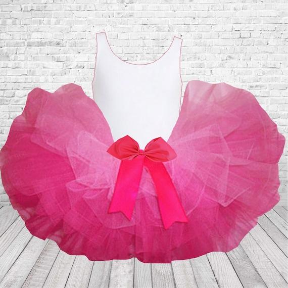 Valentine Hot Pink Girl Tutu Party Dress Skirt Light Pink Heart /& Ruffle 2-6Year