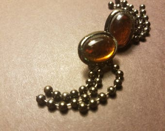 Vintage Amber Boho Earrings