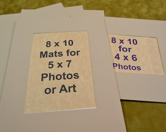Items Similar To 8 X 10 Photo Mats For 5 X 7 Photos 40 White Mats