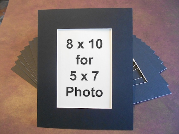Black Photo Mats 8 X 10 For 5 X 7 Photosart Quantity Of 20 Etsy