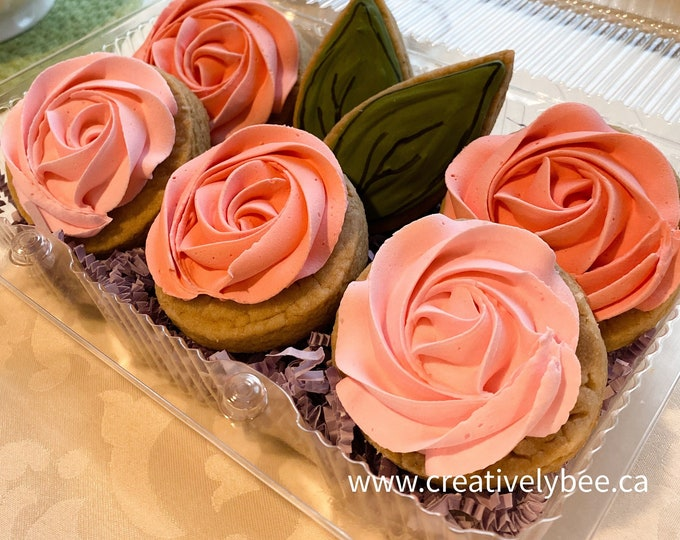 Featured listing image: Romantic Roses Cookies - Set of 7