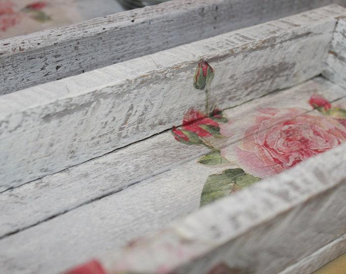 Featured listing image: Vintage Rose Decorative Trays - Set of 2