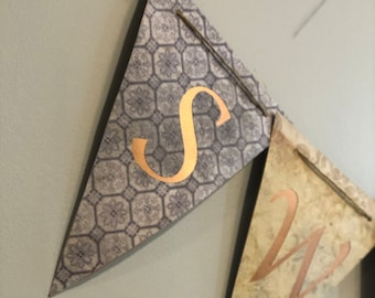 Bunting Cut File with Alphabet - Pennant Style