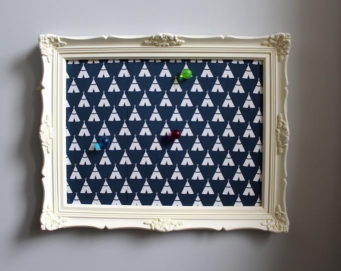 Antique Framed Magnet Board