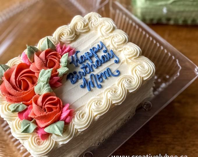 Mini Birthday Cakes - 6 to 8 servings