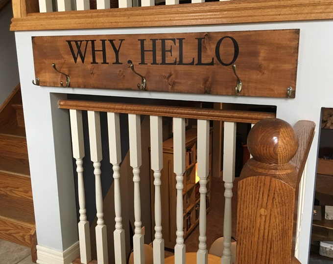 Entrance Sign and Coat Rack