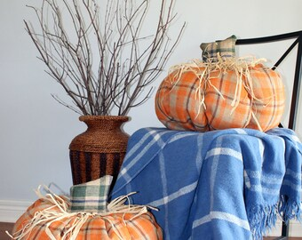 Giant Burlap Pumpkins