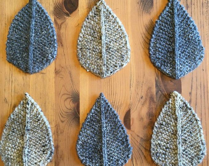 Grey & Birch Leaf Coaster (set of 6)