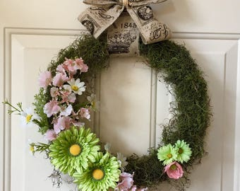 Southern-style Moss Wreath