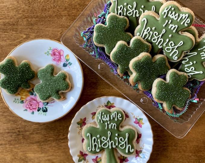 Kiss Me, I'm Irishish - Decorated Cookie Set of 7