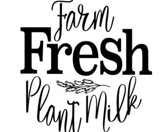 Farm Fresh Plant Milk Pkge - SVG