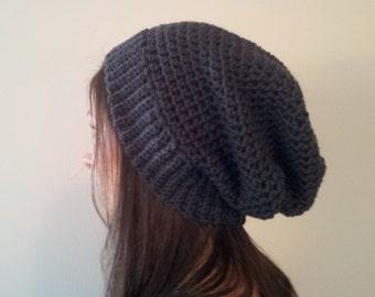 Sea to Sky Hat - Crochet Wool Slouchy Beanie
