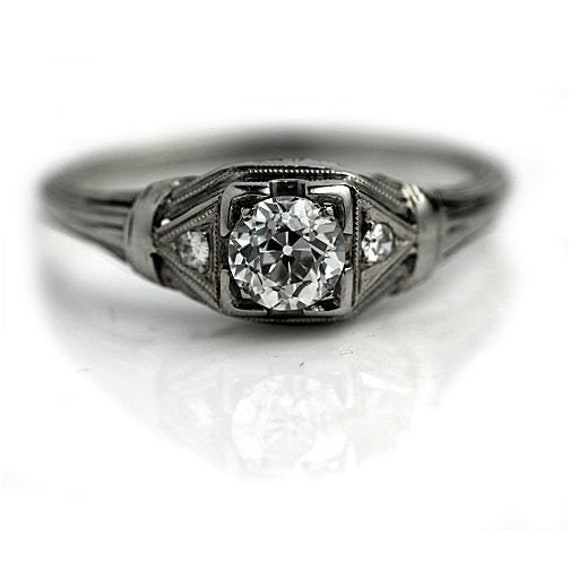 Art Deco Diamond Ring - Antique Art Deco & Diamond