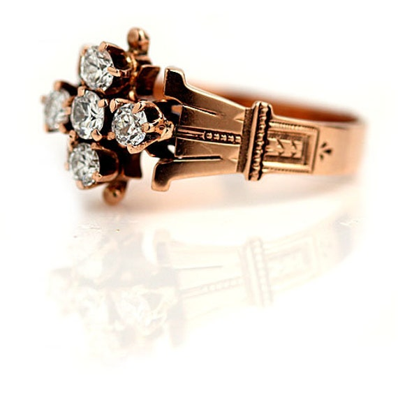 Victorian Engagement Ring - Vintage Victorian .55… - image 2
