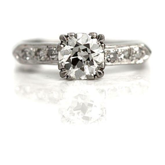 Vintage Diamond Ring - 1.17ctw GIA Vintage Engagem