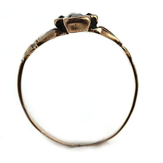 Garnet Engagement Ring Victorian Engagement Ring … - image 3