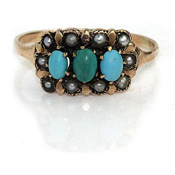 Sterling silver ring w oval cut turquoise stone. #-0361