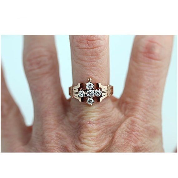 Victorian Engagement Ring - Vintage Victorian .55… - image 4