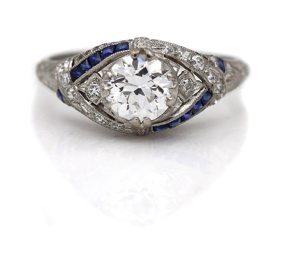 Art Deco Engagement Ring - Antique Art Deco Diamon