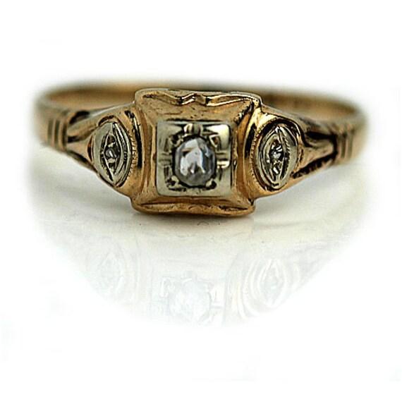Simple Diamond Ring .10ctw Antique Simple Ring Ant