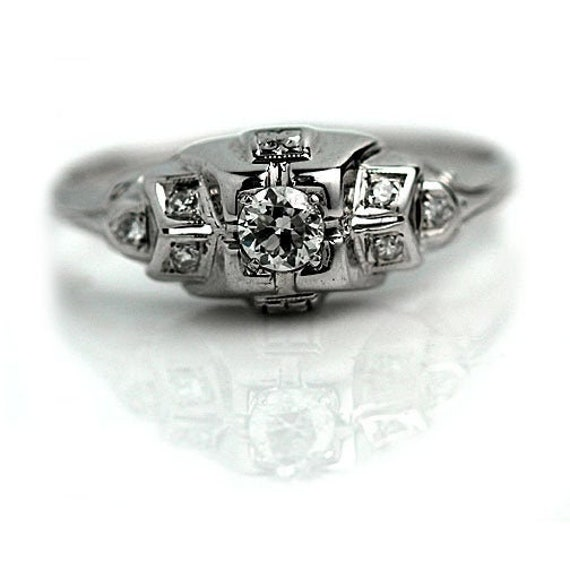 Vintage Engagement Ring Art Deco Engagement Rings