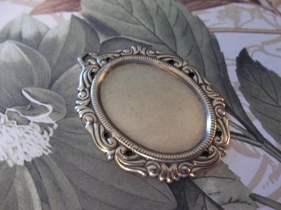 Gold Plated Brass 25X18mm Settings Fancy Bezel Frames Qty 6 Oval Pendants