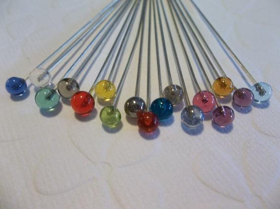 26 gauge 2 inch Head Pins Qty 80 pieces Antiqued Gold Ball End Headpins