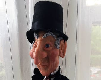 Ebenezer Scrooge Marionette (Made to order)
