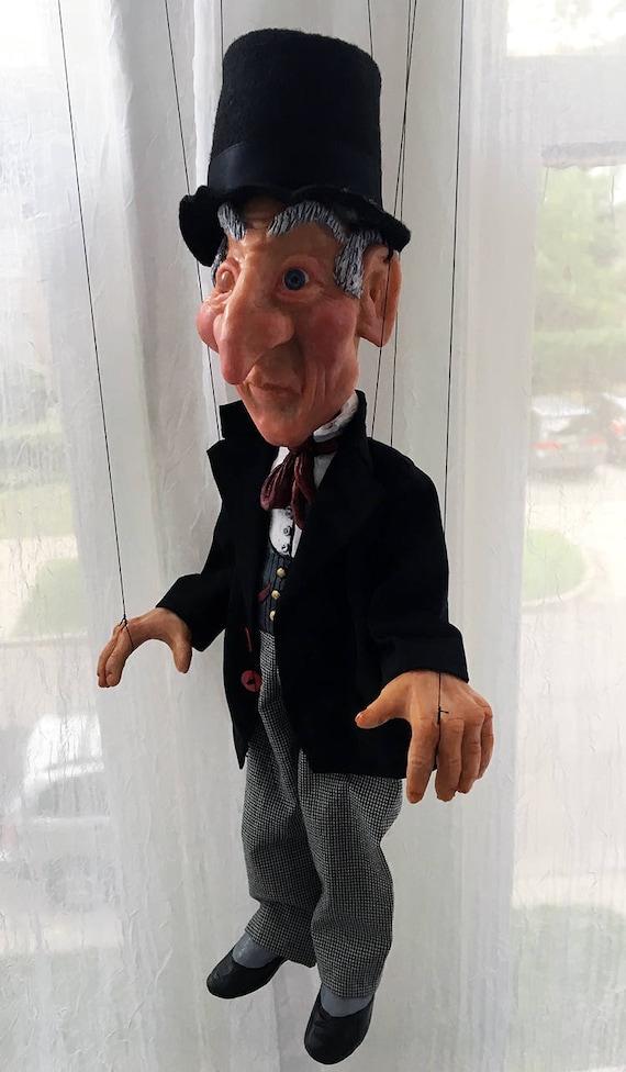 Ebenezer Scrooge Marionette Massanfertigung | Etsy