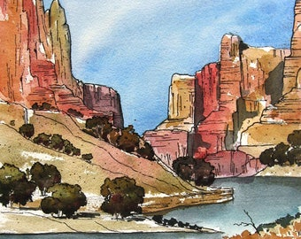 Little Colorado River - Original Watercolor Painting