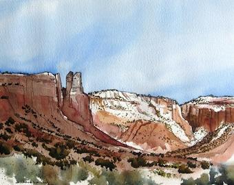 Ghost Ranch Canyon - Original Watercolor Painting
