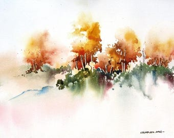 Autumn Aspen - Original Watercolor Painting
