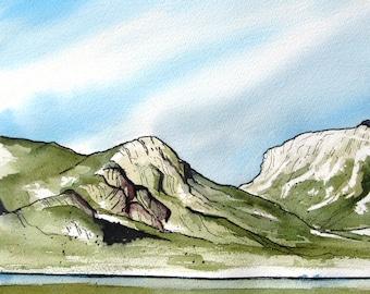 Grand Lake Vista - Original Watercolor Painting