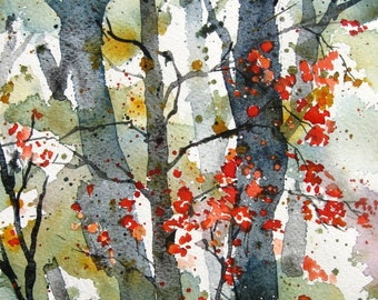 Forest Wilderness - Original Watercolor Painting