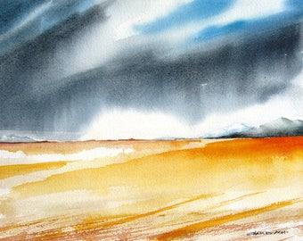 Santa Fe Prairie - Original Watercolor Painting