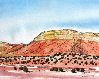 Northern New Mexico Vista - Original Watercolor Painting