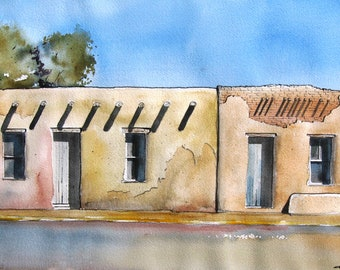 House In The Barrio - Original Watercolor Painting