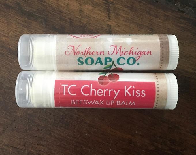 Traverse City Cherry Kiss Beeswax Lip Balm