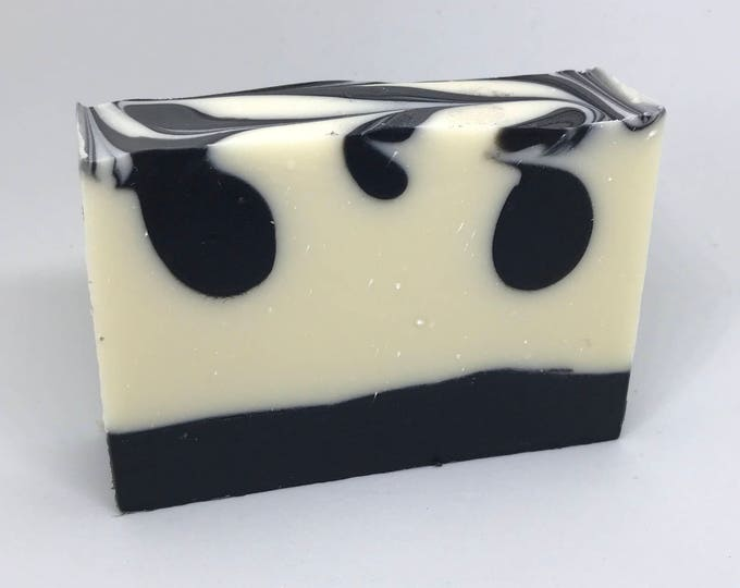 Black Tie | Perfect Man | Shea Butter Soap | Activated Charcoal | Gift for Him | Manly Soap | Black and White Soap | Artisan Soap