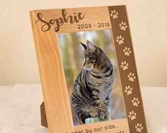 Personalized Pet Remembrance Frame, Pet Sympathy Gift, Personalized Sympathy Frame, Engraved on Wood, Cat Frame, Dog Frame