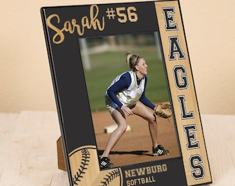Personalized Sport Picture Frame - Sports Team Gift - Gift for Athlete - Basketball - Baseball - Softball - Football - Volleyball
