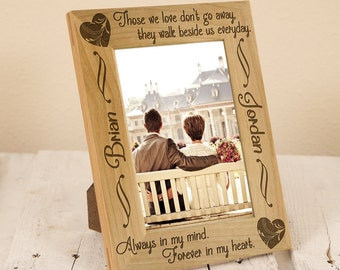Sympathy Picture Frame - Personalized Sympathy Gift - Gift for a Lost Loved One - Picture Frame for Memorial - Personalized Memorial Gift
