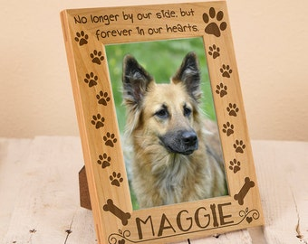 Personalized Pet Remembrance Frame, Sympathy Gift for Lost Dog, Personalized Sympathy Frame, Engraved on Wood