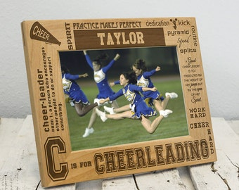 Personalized Cheerleading Picture Frame - Cheerleading Gifts for a Team - Gift for Cheerleader - Cheer Picture - Cheerleading Coach Gift