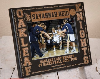 Personalized Youth Sports Team Picture Frame - Athletic Team Gift - Sports Team Gift - High School Sports Gift - Sports Player Picture Frame