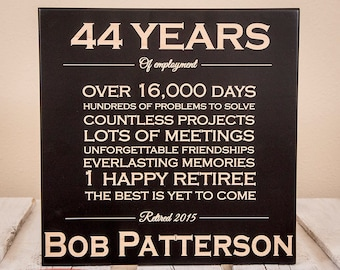 Personalized Retirement Plaque - Change of Wording | Retirement Gifts | Retirement Gifts for Men | Retirement Gifts for Women