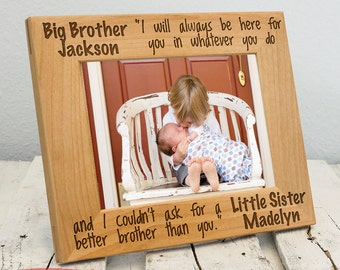 Personalized Sibling Picture Frame | Custom Picture Frame for Siblings | Big Brother and Little Brother Gift | Big Brother and Little Sister