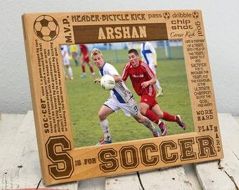 Gift for Soccer Player - Soccer Picture Frame - Personalized Picture Frame for Soccer - Soccer Player Gift - Soccer Coach Gift - Soccer Gift
